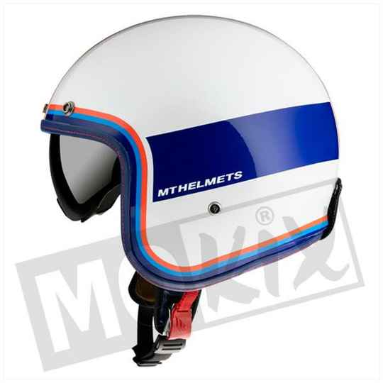 HELM MT LE MANS II SV TANT WIT/BLAUW/ROOD
