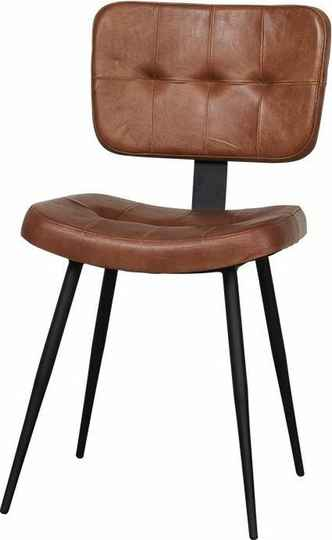 Lifestyle Chester Dining chair Cognac - Bruin Leder