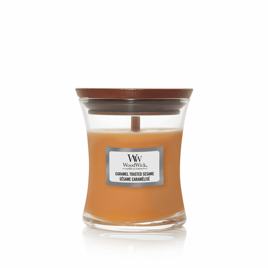 WoodWick Mini Candle Caramel Toasted Sesame
