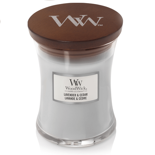 WoodWick Lavender & Cedar Medium Jar Candle