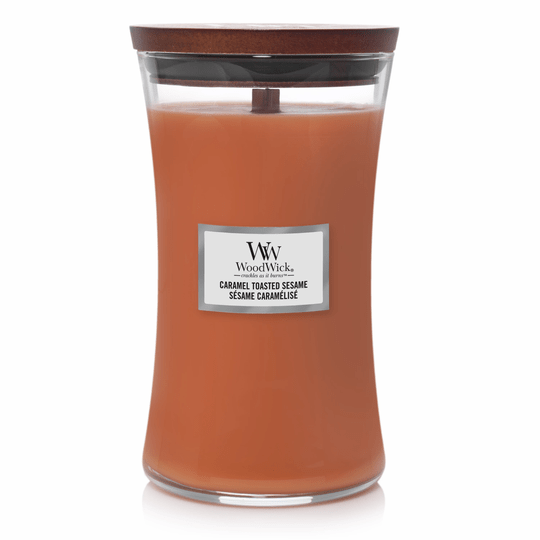 WoodWick Large Candle Caramel Toasted Sesame