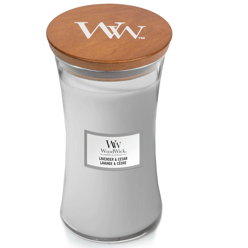 WoodWick Lavender & Cedar Large Jar Candle