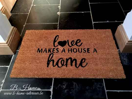 Deurmat Kokos Love Makes A House A Home