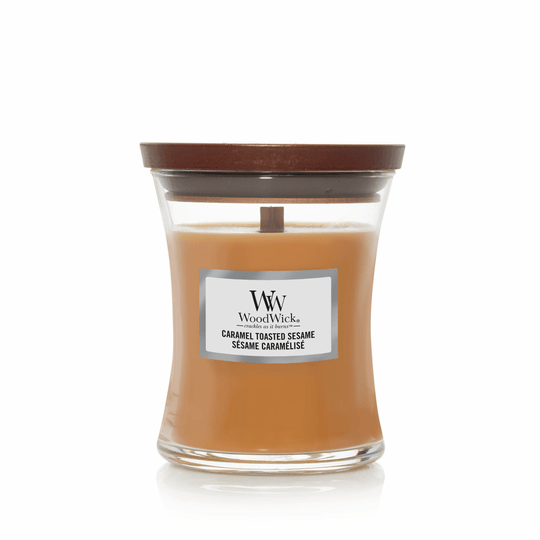 WoodWick Medium Candle Caramel Toasted Sesame