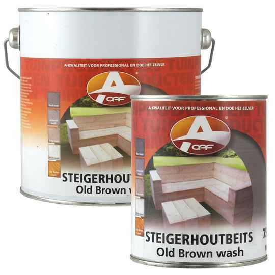 BROWN WASH OAF Steigerhoutbeits - 750 ml / 2,5 L