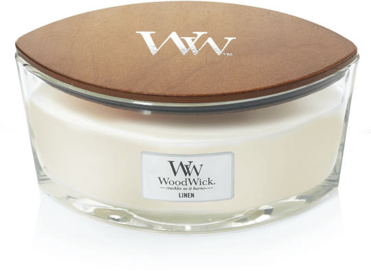 WoodWick Heartwick Flame Ellipse Linen