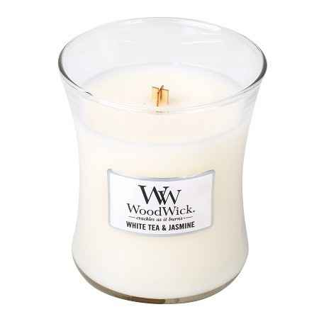 WoodWick White Tea & Jasmine Medium Candle
