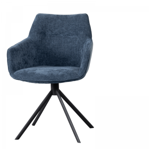 LIFESTYLE - JOHNSON ROTATING DINING CHAIR CROWN -  BLUE