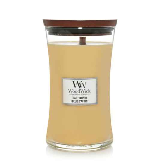WoodWick Large Candle ​​​​​​​​​​​​​​​​​​​Oat Flower