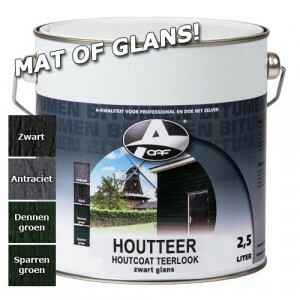 OAF Houtteer (Houtcoat Teerlook) 750 ml / Zwart - Mat