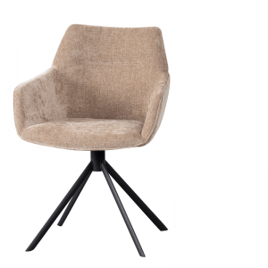 LIFESTYLE - JOHNSON ROTATING DINING CHAIR CROWN - SAND