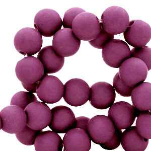 Acryl kralen matt Mulberry purple 4mm (100 stuks)