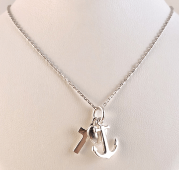 Love, hope, and believe ketting, zilver