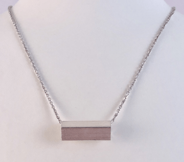 Staaf ketting, zilver