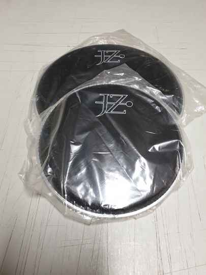 """NEW set 8"""" and 10"""" drum heads black"""