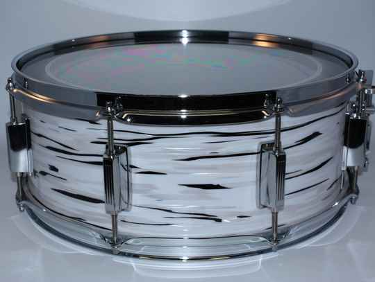 """NIEUW CUSTOM MADE SNARE """"THE OYSTER WHITE 15"""" x 5.5"""""""