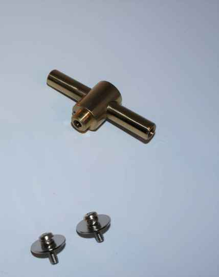 NIEUW snare tube lug messing 63 mm