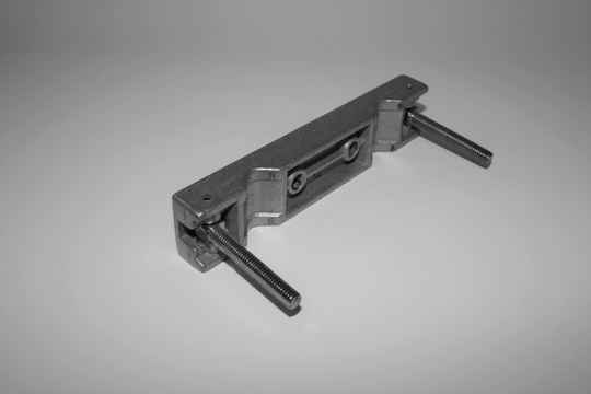 USED steel clamp part