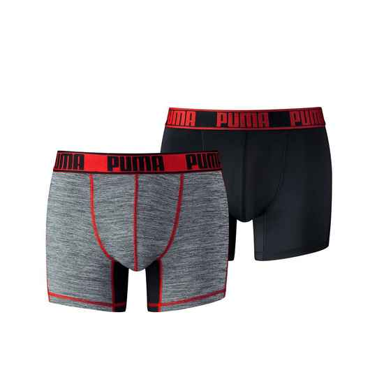 Boxer Men Active Style Black /Red (2-pack, 671018001-232)