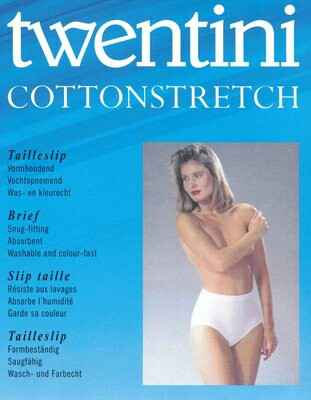 Twentini Cotton Stretch Taileslip Wit/Huid
