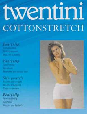 Twentini Cotton Stretch Pantyslip Wit/Huid
