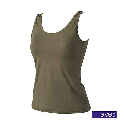 Top met brede band Khaki (7591)