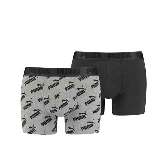 Puma Basic Boxer Dark Grey Melange Logo 2-Pack (100001512-001)