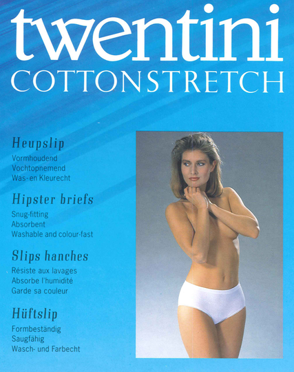 Twentini Cotton Stretch Heupslip Wit