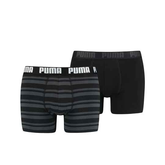 Puma Basic Boxer Heritage Stripe Black 2-Pack (601015001-200)