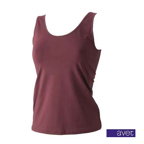 Top met brede band Bordeaux Rood (7591)