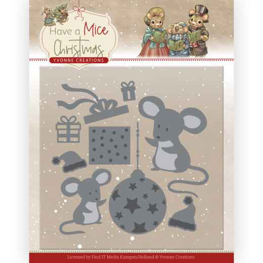 Yvonne Creations - Have a Mice Christmas - Christmas Mouse Gift  YCD10252