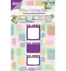 Joy! Crafts Cutting & Embossing stencil - Memo Writing Paper  6002/0247