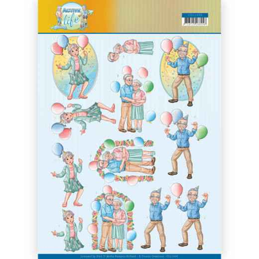 3D Knipvel - Yvonne Creations- Party Together  CD11400
