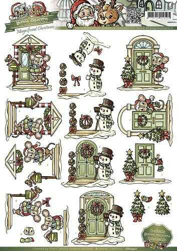 Yvonne Creations - Magnificent Christmas - Christmas doors   CD10401