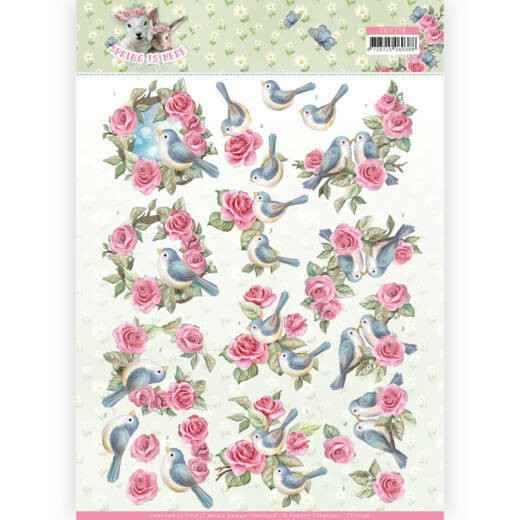Amy Design - Spring is Here - Birds and Roses - CD11278