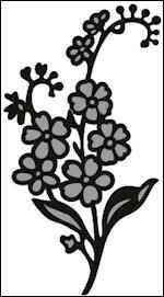 Craftables stencil Tiny`s forget me not - CR1307