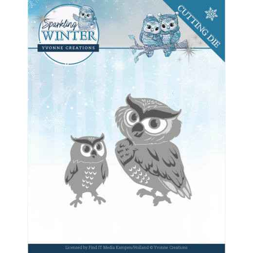 Yvonne Creations - Sparkling Winter - Winter Owls  YCD10192