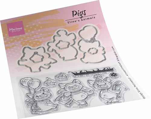 Clear stamp Eline's Animals Pigs  EC0187  (02-21)