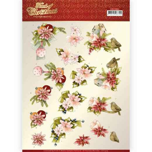 Precious Marieke - Touch of Christmas - Pink Flowers  CD11504