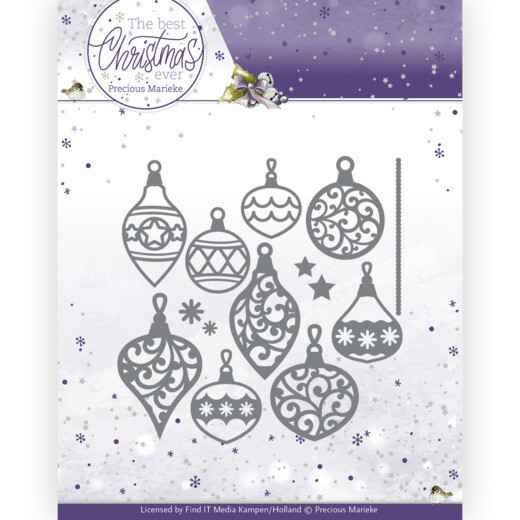 Precious Marieke - The Best Christmas Ever - Bunch of Christmas Baubles  PM10211