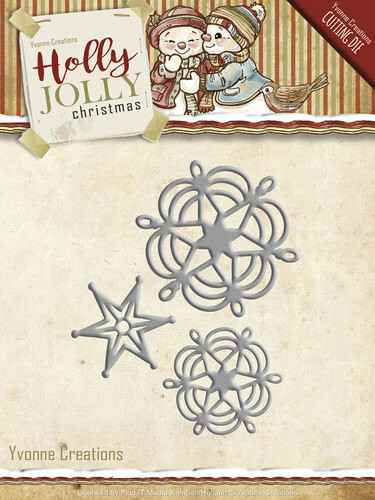Yvonne Creations - Holly Jolly - Snowflake and Star   YCD10073