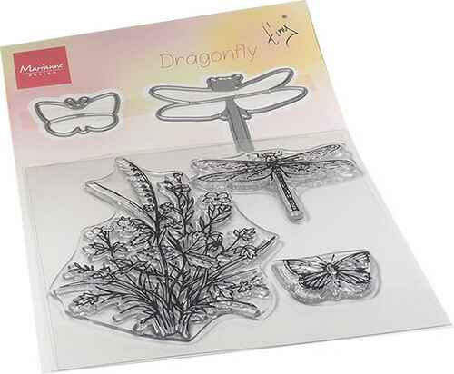 Clear Stamp & die set Tiny's dragonfly  TC0880