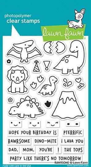 Lawn Fawn Rawrsome Clear Stamps (LF1892)