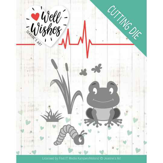 Jeanine's Art - Well Wishes - Smiling Frog    JAD10094