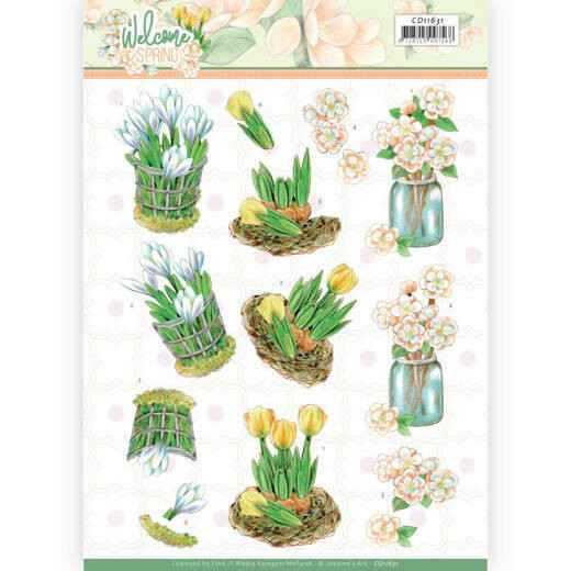 Jeanine's Art Welcome Spring - Yellow Tulips  CD11631