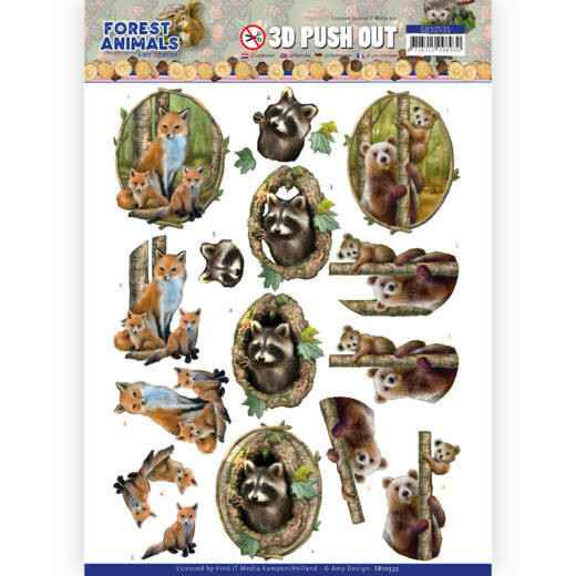 3D Push Out - Amy Design Forest Animals - Fox   SB10535
