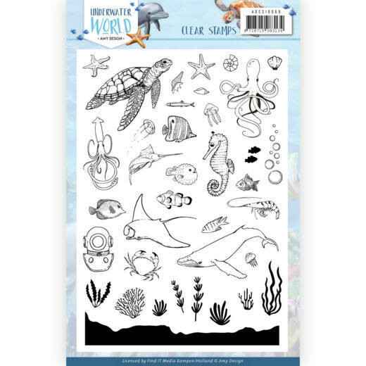 Clear Stamps - Amy Design - Underwater World  ADCS10068