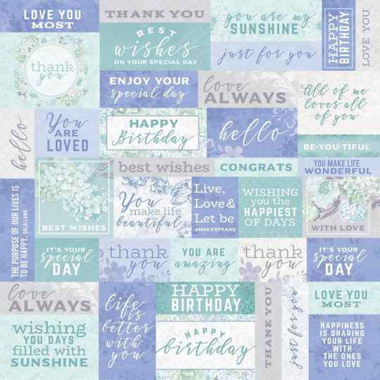 """Kaisercraft Lilac whisper double-sided 12x12"""" well wishes  P2351"""