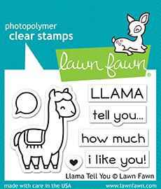 Lawn Fawn Llama Tell You Clear Stamps (LF1678)