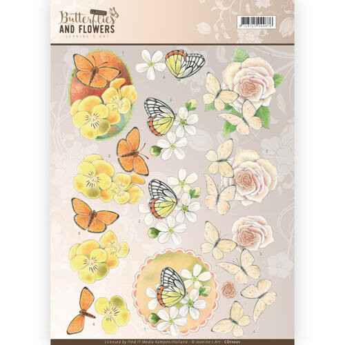 Jeanine`s Art - Butterflies and Flowers - Yellow Flowers  CD11001